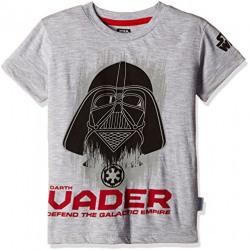 Star Wars Boys' T-Shirt (ST1EBT2586_LT GREY MEL_9/10)