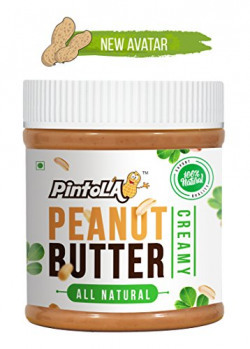 Pintola All Natural Creamy Peanut Butter, 350g (Unsweetened)