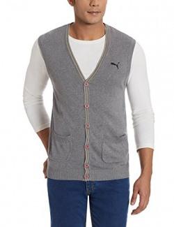 Puma Men's Cotton Cardigan (4053985472030_Small)
