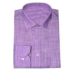 Kalrav Fashion Men's Formal Shirt_KMSH058_Purple _S