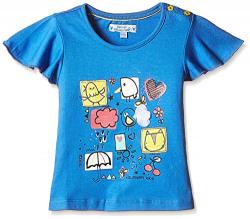 Nauti Nati Baby Girls' T-Shirt (NSS16-991_Blue_18-24M)