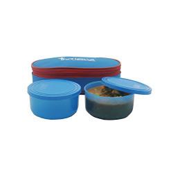 Incrizma Plastic Yummy Duo Lunch Box Set, 275ml, Set of 2 (3121)