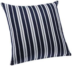 Blue Alcove Delhi Stripes Cushion Cover - Navy and White (SGCC-37)