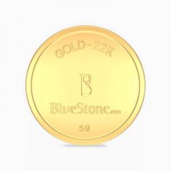 BlueStone 22 K 5 g Gold Coin