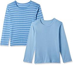 Mothercare Boys' Regular Fit Plain Cotton Thermal Top (C6579-1_Blue_5-6 Y)