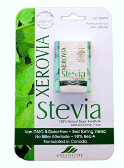 Xerovia stevia 98% Reb A, Formulated in Canada, 100 tablets, sugar free { LIMITED OFFER }