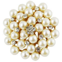 Silver Shoppee Pearl Garland Brooch for Girls and Women