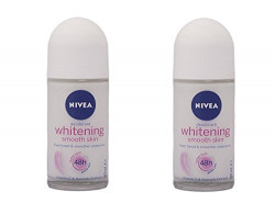 Nivea Whitening Smooth Skin Roll On, 50ml (Pack of 2)