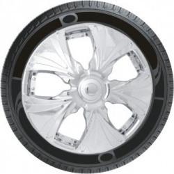Oshotto Premium OSHO-WC022C 13-inch Black Chrome Finish Universal Fitting-Push Type Car Wheel Cover (Set of 4)