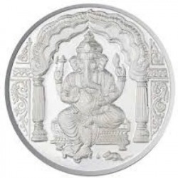 Chahat Jewellers 20grams S995 Ganesha Coin Silver Currency
