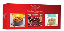 Gourmia Diwali Gift Pack, 300g (Roasted Almonds, Pistachios and Cranberry)