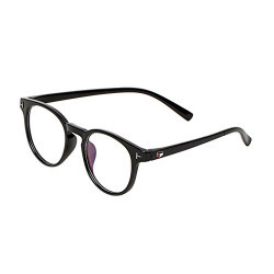 Vast Black Round UV Protection Full Rim Spectacle Frame (Unisex|Blk|52|Clear)