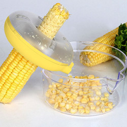 Generic Plastic Corn Kerneler, Transparent/Yellow