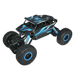 WebKreature Radio Control 4WD Rally Rock Crawler Monster Truck, Blue
