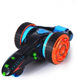 Montez Super-Fast Shock Absorbing 5 Round 6CH 2-sided Extreme High Speed Tumbling RC Stunt Race Car