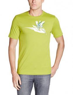 Wildcraft Men's Cotton T-Shirt (8903338085454_40330_Small_Green)