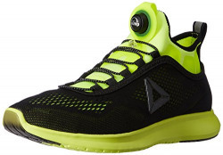 Reebok Men's Pump Plus Tech Solar Yellow and Black Running Shoes - 11 UK/India (45.5 EU) (12 US)