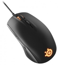 SteelSeries Rival 100, Optical Gaming Mouse, RGB Illumination, 6 Buttons, (PC / Mac) - Black