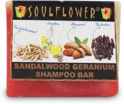 Soulflower Sandalwood Geranium Shampoo Bar