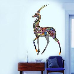 Decals Design 'Artistic Reindeer' Wall Sticker (PVC Vinyl, 60 cm x 90 cm)
