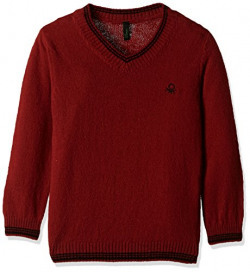 United Colors of Benetton Boys' Sweater (16A1032C4047G281EL_Maroon)