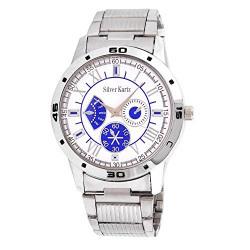 Silver Kartz Analog Men's Watch (Blue, White_WTM-033)