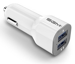 Car Charger, SGM Dual USB Ports Fast Universal Charging Car Charger Adapter For All Mobile Devices - iPhone, Android Phones, Samsung Galaxy, Xiaomi, Oppo, Vivo, HTC, Motorola