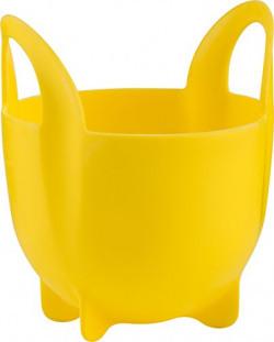Trudeau FDA Silicone Egg Poacher with Handle, Yellow