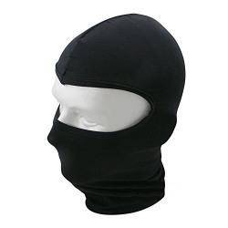 Balaclava Polyester Full Face Mask for Bike Riding (Black)