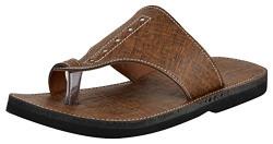 Anshedition Men's Brown Rexine Outdoor Sandals - 8 UK