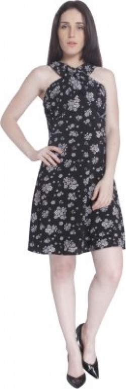 Vero Moda Women's Fit and Flare Black Dress