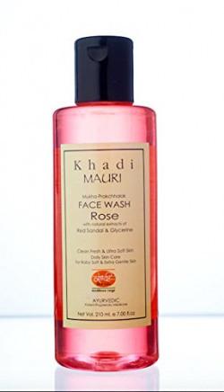Khadi Rose Herbal Face Wash- 210 Ml Gentle & Soft Skin Care