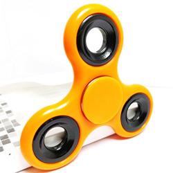 Discount Retail Tri-Spinner with 608 Hybrid Bearing Shakes Toy Plastic EDC Sensory Fidget Spinner (Orange)