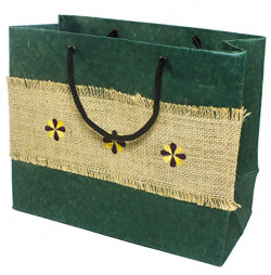 Gulmeher Handmade paper bag (with jute pasting) Green Colour
