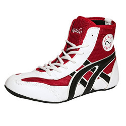 Excido Men White, Red Synthetic Leather, Mesh Kabbadi Sport Shoes (ks01, Size: 45 Euro)