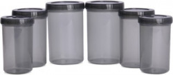 Bel Casa Lock & Store Spin  - 750 ml, 1000 ml, 1400 ml Polypropylene Grocery Container, Spice Container