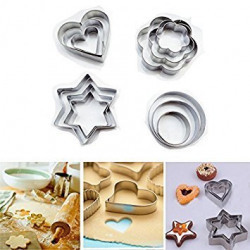 MAGNUSDEAL®12 pcs cookie cutter Cookies Cutter, cakeware cookies cutter, stainless steel cookies cutter, Metal cookie cutter is durable and easy to use (shape may vary)