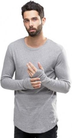Young Trendz Self Design Men's Round Neck Grey T-Shirt