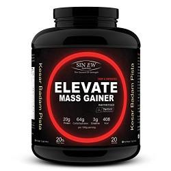 Sinew Nutrition Elevate Mass Gainer - 2 kg /4.4 lbs (Kesar Badam Pista Flavour)