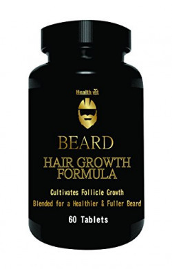 Healthvit Beard Facial Hair Supplement  For Thicker & Fuller Beard 60 Tablets