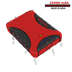 COOLNUT 10400mAh Waterproof Power Bank, High Capacity Portable Charger PowerBank (Made In India)