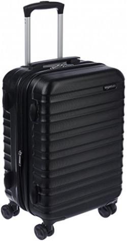 AmazonBasics Hardside Suitcase with Wheels, 20  (50.8 cm) Cabin Size, Black