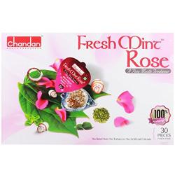 Chandan Mouth Freshener Fresh Mint Pan Blister, Rose, 30 Pieces, 180g