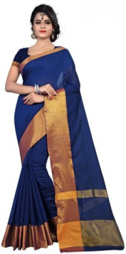 BAPS Solid, Self Design, Plain, Embellished Kanjivaram Handloom Silk Saree