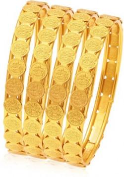 Sukkhi Alloy 18K Yellow Gold Bangle Set
