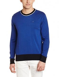 Lee Men's Cotton Sweater (8907222743130_L18609F946TR00L_Large_Blue)