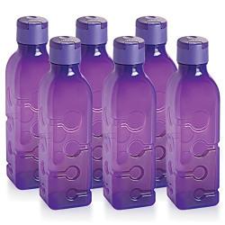 Cello Tango Polypropylene Bottle Set, 1 Litre, Set of 3, Purple
