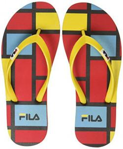 Fila Women's Rada Flip Rd and Yel Slippers - 7 UK/India (41 EU)(11004913)
