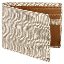 Creature Designer White Wallet for Men with Zip (Colour-White/Brown||6 Card Slots||WL-003)