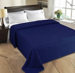Super India Polar Fleece Polyester Double Blanket - Blue
